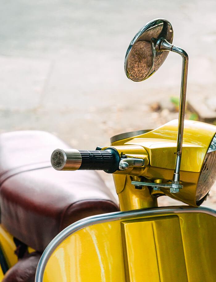Rollersitz aus Kunstleder