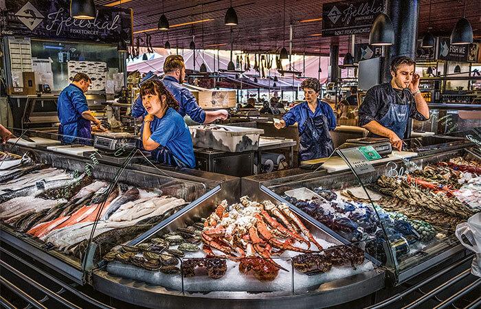 Fish sale